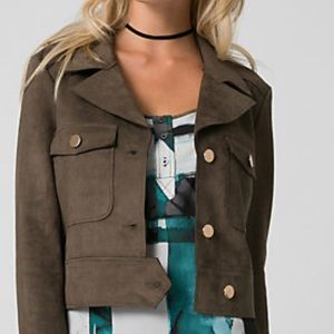 New: Le Chateau faux suede jacket